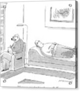 A Canine Psychologist Interviews His Human Acrylic Print