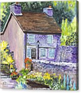 A Castleton Cottage In Uk Acrylic Print