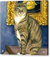 A Cat And Eduard Manet's The Lemon Acrylic Print