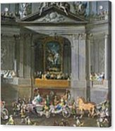 A Cavalcade In The Winter Riding School Of The Vienna Hof To Celebrate The Defeat Of The French Acrylic Print