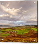A Chambers Bay Morning Acrylic Print by Ken Stanback