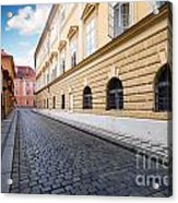 A Charming Street In Prague Acrylic Print