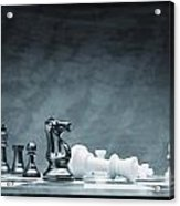 A Chess Game Acrylic Print by Don Hammond
