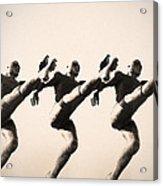 A Chorus Line Acrylic Print by Bill Cannon