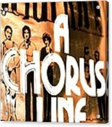 A Chorus Line Vintage Acrylic Print