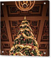 A Christmas Tree At Union Station Acrylic Print