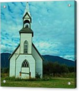 A Church In British Columbia   Acrylic Print