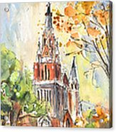 A Church In Our Street In Budapest Acrylic Print