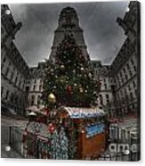A City Hall Christmas Acrylic Print