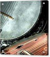 A Classic Pairing Digital Guitar And Banjo Art By Steven Langston Acrylic Print