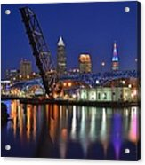 A Cleveland Ohio Evening On The River Acrylic Print