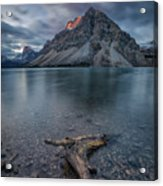 A Cloudy Day In Bow Lake Acrylic Print
