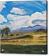 A Cloudy Day On Antelope Island Acrylic Print