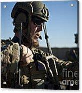 A Coalition Force Member Sets Acrylic Print