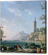 A Coastal Mediterranean Landscape Acrylic Print