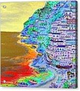 A Coastal View Of Positano Acrylic Print