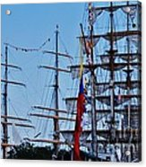 A Collection Of Masts In Baltimore Acrylic Print