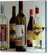 A Collection Of Wine Bottles Acrylic Print