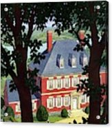 A Colonial Manor House Acrylic Print