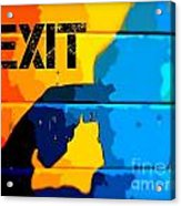 A Colorful Exit  Acrylic Print