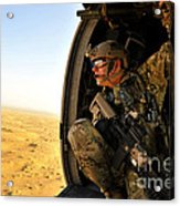 A Combat Rescue Officer Conducts Acrylic Print