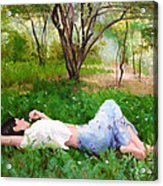 A Comfortable Patch Acrylic Print