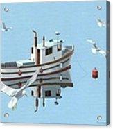 A Contemplation Of Seagulls Acrylic Print