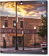 A Corner In Winslow Arizona Acrylic Print