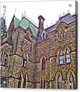 A Corner Of Parliament Building In Ottawa-on Acrylic Print