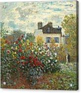 A Corner Of The Garden With Dahlias Acrylic Print