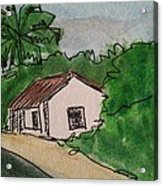 A Cottage Next To The Pathway Acrylic Print