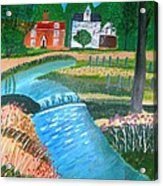 A Country Stream Acrylic Print