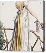 A Country Style Ladies Dress Acrylic Print