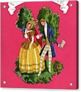 A Couple In Period Costume Acrylic Print