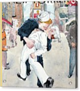 A Couple Reenacts A Famous World War II Kiss Acrylic Print