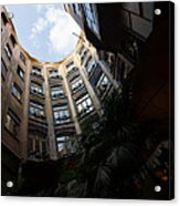 A Courtyard Curved Like A Hug - Antoni Gaudi's Casa Mila Barcelona Spain Acrylic Print