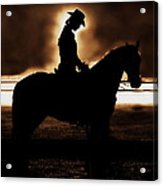 A Cowgirls Prayer Evening Ride Acrylic Print