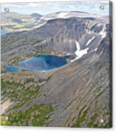 A Crater Lake From The Seaplane In Katmai National Preserve-alaska  Acrylic Print