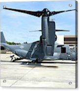 A Cv-22b Osprey On The Ramp At Hurlburt Acrylic Print