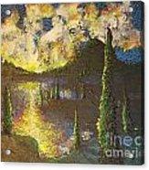 A Cypress Congregation Acrylic Print