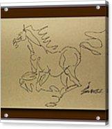 A Dancing Horse Acrylic Print