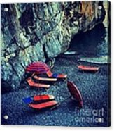 A Day At The Beach Acrylic Print by H Hoffman