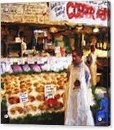 A Day At The Fish Market Acrylic Print