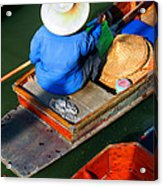 A Day At Work On A Thai Canal Acrylic Print