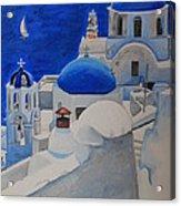 A Day In Santorini Acrylic Print