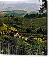 A Day In Tuscany Acrylic Print