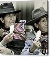 A Day Off In Tarabuco- Bolivia Acrylic Print