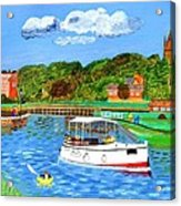A Day On The River In Exeter Acrylic Print