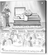 A Dead Chef Is In A Casket And A Bunch Of People Acrylic Print
