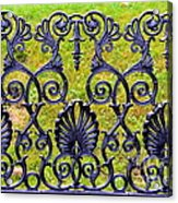 A Decorative Iron Seat Acrylic Print